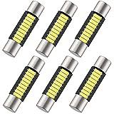 Shuyee 6PCS 28mm 29mm 6614F Festoon LED Car Bulb, Extremely Bright 9-SMD 4014 chips 6641 6612F LED Bulb, Fit for Vanity Mirror Lights and Sun Visor Lights, 6000k White