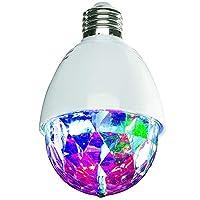 PARTY: LED-Lichter mit rotierenden Disco-Lichteffekten, unvergesslich Kompatibel mit allen gängigen Glühlampen mit E 27-Fassung Übertragen Sie EASY in die E27-Buchse, leuchten Sie, PARTY Idealer Geburtstag, Silvester, warmes u.v.m