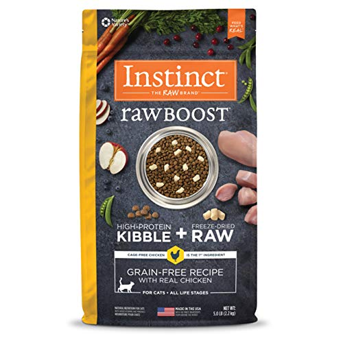 Instinct Raw Boost Grain Free Recipe with Real Chicken Natural Dry Cat Food by Nature's Variety, 5 lb. Bag