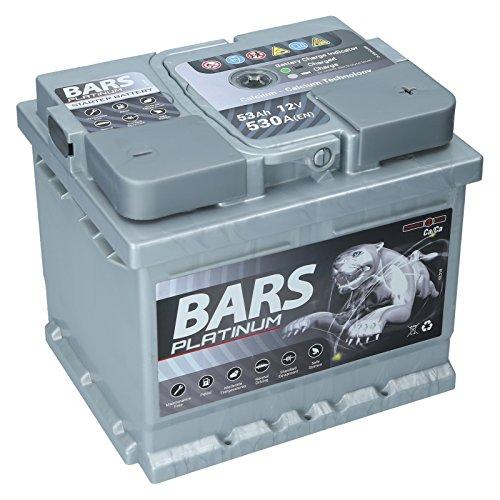Autobatterie 12V 53Ah 530A Bars Platinum Starterbatterie Wartungsfrei