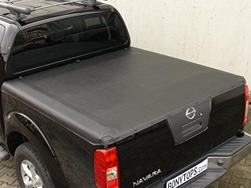 Navara D40laderaumabdeckung/Tonneau Versión de Cover Soft/Borde Inferior para Nissan Navara D40de doble cab se, Le con laterales bordes de plástico Diseño Año 2006–2015