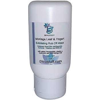 Moringa Leaf & Yogurt Exfoliating Rub Off Mask, With Retinol, Hexepeptide, Hyaluronic Acid and Moringa Leaf, By Diva Stuff