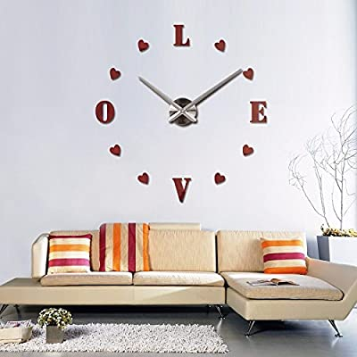 EverTrust(TM) new wall clock reloj de pared quartz watch europe horloge home living room 3d acrylic mirror vintage clocks