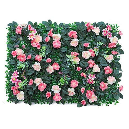 Recinzione del Giardino 40x6. 0CM. Pannello di hedge rose artificiale UV. Schermo protetto della recinzione della privacy for la decorazione di nozze del cortile del giardino all'aperto Recinto Decora