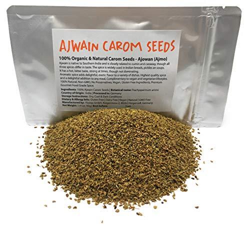 Organic Ajwain Carom Seeds (Net Wei…