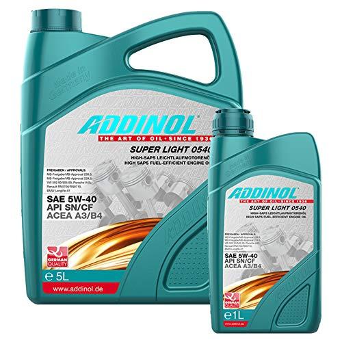 Addinol Motoröl 5W-40 Super Light 0540 5L + 1L
