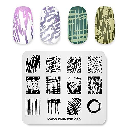 KADS Nail Stempelnde Platte chinesischen Stil Vorlage Bild Design Platten für Nail Art Dekoration und DIY Nail Art (CN010)