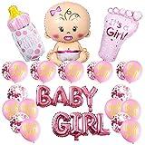 Juego de 14 globos de fiesta para fiestas de nacimiento/fiesta de cumpleaños para baby shower, revelación de género, boda fiesta de cumpleaños