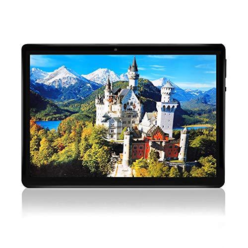 "10 Zoll Android 7.0 Tablet entsperrt Pad mit Dual SIM Kartensteckplatz TAOERA 10,1 \""IPS Bildschirm 2GB RAM 32GB ROM 3G Phablet Integriertes Bluetooth WiFi GPS Tablets (Metallisches Schwarz)"