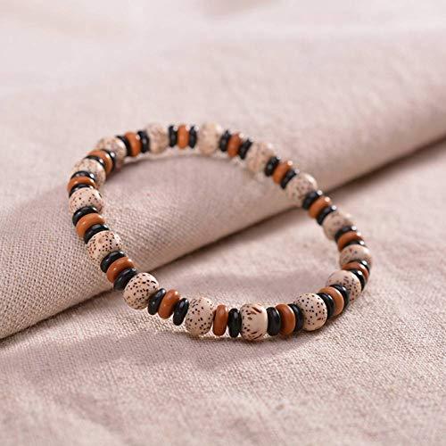 MLJSX armband Witte Bodhi Zaad Kralen Armbanden Natuurlijke Kokosnoot Shell Vriendschap Armbanden voor Mannen Vrouwen Sieraden