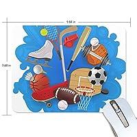 マウスパッド 運動 野球 バスケットボール 光学式マウス対応 防水 滑り止め生地 ゴム製裏面 軽量 耐久性 携帯便利 ノートパソコン用 オフィス用 快適 プレゼント