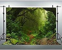 HD JSCTWCL10x7ft森の小道の背景自然の風景YouTubeの背景ジャングルのテーマベビーシャワーの装飾誕生日パーティーの写真撮影の小道具142
