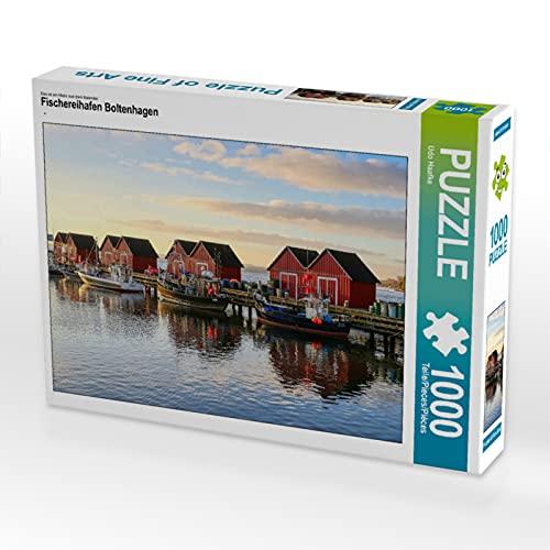 CALVENDO Puzzle Fischereihafen Boltenhagen 1000 Teile Lege-Größe 64 x 48 cm Foto-Puzzle Bild von UDO Haafke