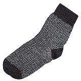 Hirsch Natur, Leichte Socken mit Muster, 100prozent Wolle (kbT) (44/46, Anthrazit gemustert)