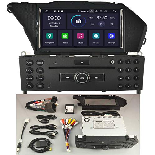 KasAndroid AUTORADIO Android 10.0 compatibile con Mercedes-Benz GLK/GLK X204/GLK 300/GLK 350 OCTA CORE, 4 GB RAM, 64 GB ROM GPS Radio AUTO CD SD DVD USB navi navigatore Bluetooth 2008-2010