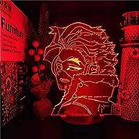 GMYXSW 3D LEDランプマイヒーローアカデミアホークスアニメランプナイトライトBOKUの英雄アカデミアランパラクリスマステーブルランプホリデープレゼント
