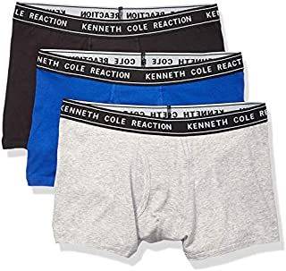 Kenneth Cole Reaction Men's Underwear Cotton Spandex Trunk, Multipack