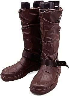 Noragami Yato Kami Boots Brown PU Fashion Mens Cosplay Costume Shoes
