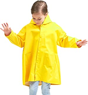 Kids Rain Jacket Age 2-10 Dinosaur Shaped Lightweight Rainwear for Boy for Girl
