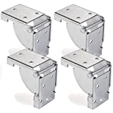4 x SO-TECH Compas d'abattant de Table Ferrure d'abattant Abattant de Console pour Pied de Table 38 x 38 mm