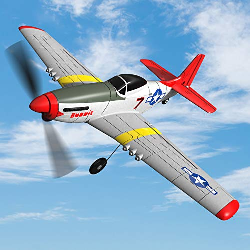 SONIKRC VOLANTEXRC RC Model Airplane P51D 400mm 4CH 2.4G Remote Control Plane Outdoor Toys for Kid Birthday Gift