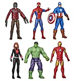 Marvel Avengers Titan Hero Series 6 Action Figure Set Hulk Iron Man Captain America...