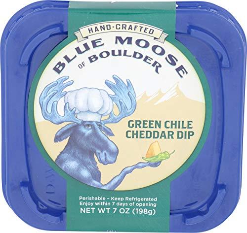 Blue Moose, Green Chile Cheddar Dip, 7 oz