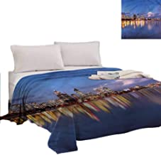 RenteriaDecor Modern Personalized Blanket Western Australia at Night Home Sofa Bedding Office Car Throws Great Gifts to Your Family,Friends,Kids 70X50 Inch