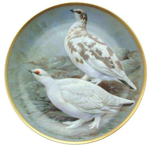 c1979 Haviland Limoges Franklin Porzellan Gamebirds of The World Basil Ede Rock Ptarmigan Teller CP1885