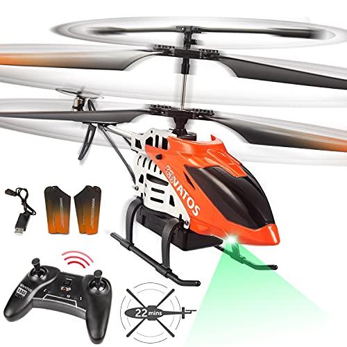 VATOS - Elicottero radiocomandato RC elicottero volare per 22 minuti – 2,4 Ghz Mini elicottero con...
