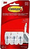 Command Wire Hooks, Small, White, 3-Hooks (17067ES), Organize Damage-Free - 1