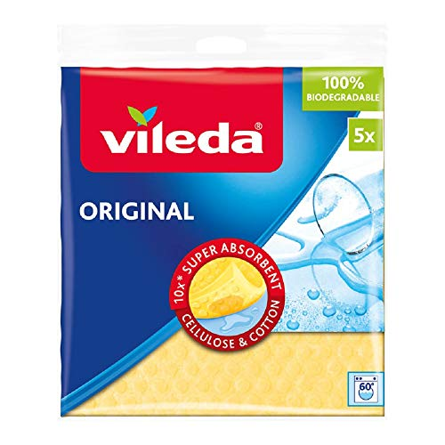 Vileda Schwammtuch mit besonders hoher Saugkraft, farblich sortiert, 5er Pack