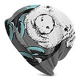 Hdadwy Intéressant Cochon Animation Hommes tricoté Bonnet Tricot Chapeaux pour Femmes Hiver randonnée crâne Casquette Hommes Tricot Casquette 3D imprimé Adulte Comfortbale Doux