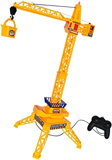 MagiDeal 30 inch Tall Wired Remote Control Crawler Crane Educational Toys for Kids