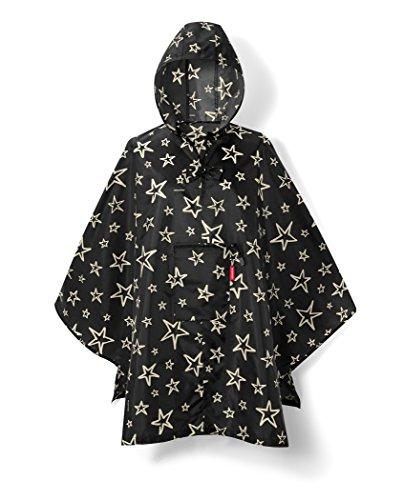 reisenthel Mini Maxi Stars Poncho Femme Noir, One Size