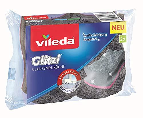 Vileda Glitzi Glänzende Küche Reinigungsschwamm, 2er Pack