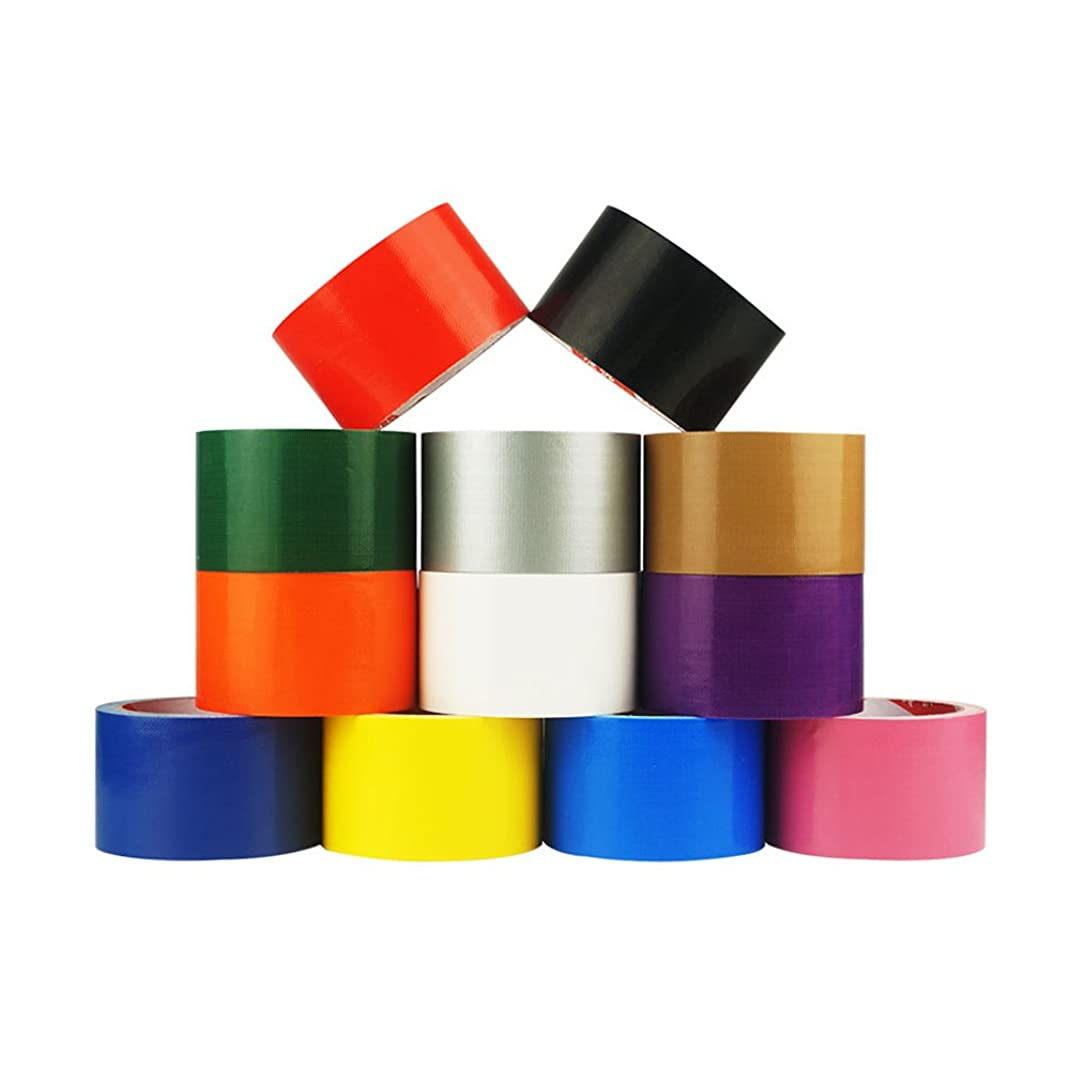 汚染する暴露信じられないZhi Jin 3個粘着テープ カラー カーペットテープ ホーム オフィス用 45mm X 10.9yd ブラック
