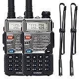 "BAOFENG UV-5RE Two-Way Radios Powerful Ham CB Radio 1800 mAh Li-ion Battery Portable Walkie Talkies with ABBREE Tactical Antenna (2Pack+42.5' Antenna"")"