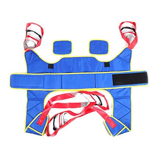 Asistente de cinturón de transferencia Diseño de gancho y bucle para cinturón de rehabilitación Transpirable para hospitales para el hogar(Azul Talla única)