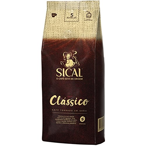 Sical 5 estrellas deliciosas granos de café portugués tostado 1 kg (3 bolsas = 3 kg)