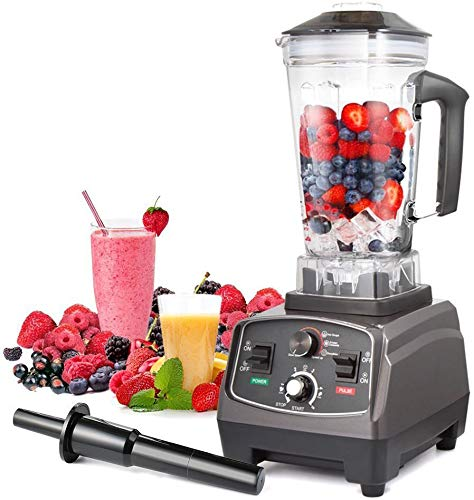 Blender Professional Countertop Blender, 2200W High Speed Smoothie Blender/Mixer for Shakes and Smoothies, commercial blender Crusing Ice, Frozen Desser with Timer, 68OZ BPA-Free Tritan Jar, Smoothie Maker Grey BATEERUN (Size1)