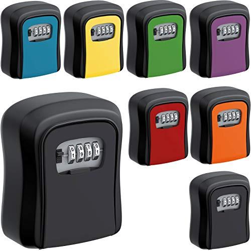 BASI Schlüsselsafe mit Zahlenschloss mini Schlüssel Tresor Safe Schlüsselkasten Wetterfest Schlüsselbox schwarz   schwarz