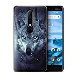 Stuff4 Phone Case for Nokia 6 2018 (6.1) Wild Animal
