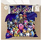 Nat999Lily Funda Nórdica De Dibujos Animados Kirby 3D Impreso Juego De Cama Fundas De Edredón Fundas De Almohada Edredón Juego De Cama Decoración del Dormitorio del Hogar 229x229cm