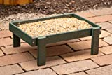 DutchCrafters Recycled Plastic Platform Ground Bird Feeder Tray Made in America (Turf Green)