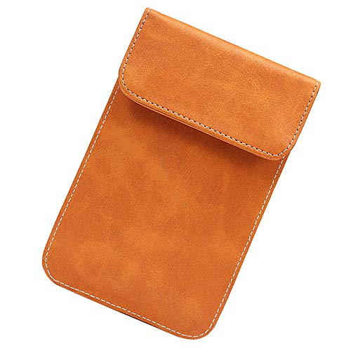 Jad Leder Signalsperrlitzen Pouch RFID-Signal-Detektor Anti-Diebstahl-Swipe Bank Card Anti-Positioning Radiation Tasche Geeignet für Mobiltelefone unter 6,5 Inches