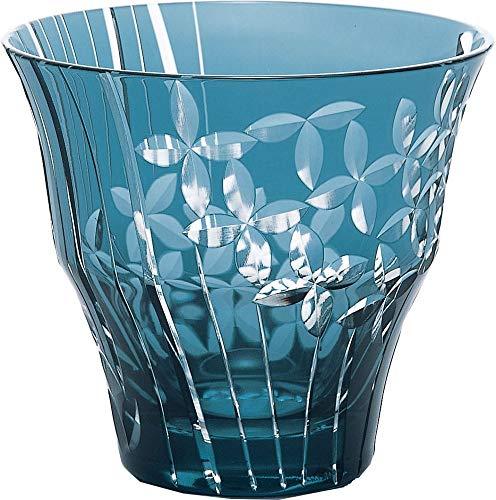 東洋佐々木ガラス オンザロックグラス ブルー 300ml キリコ 水無月  HG101-12BG