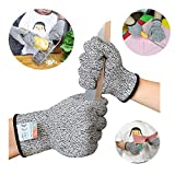 Sinwind Schnitzhandschuhe Kinder, Schnittsichere Handschuhe für Kinder – Leistungsfähiger Level 5 Schutz, lebensmittelecht (XXXS(3-5 Jährige))