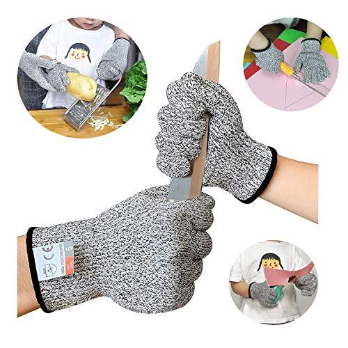 Sinwind Schnitzhandschuhe Kinder, Schnittsichere Handschuhe für Kinder – Leistungsfähiger Level 5 Schutz, lebensmittelecht (XXS(5-8 Jährige))