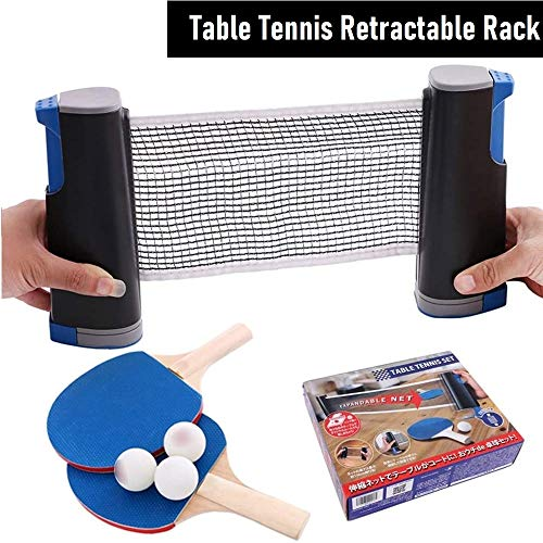 Affordable MSYR Retractable Tabletop Tennis Game Set, Extendable Pingpong Paddle Set Play Almost Any...